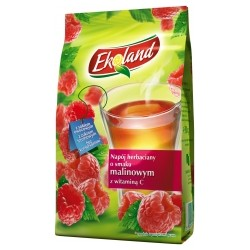DRINK TEA ECOLAND RASPBERRY BAG 300 G (12 szt.)