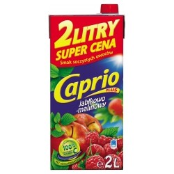 DRINK BOX CAPRIO APPLE RASPBERRY 2 L (6 szt.)