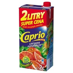 DRINK BOX CAPRIO RED ORRANGE 2 L (6 szt.)